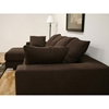 Florence Brown Twill Fabric Modern Sectional with Chaise - WI-TD9806-RUGI-47