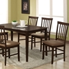 Tiffany 5-Piece Dining Set - Cappuccino Finish, Slat Back Chairs - WI-TIFFANY-5-PC-DINING-SET