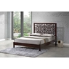 Sakuro Circle Pattern Platform Bed - Dark Brown - WI-TMH-BD-03-CAPPUCCINO-BED