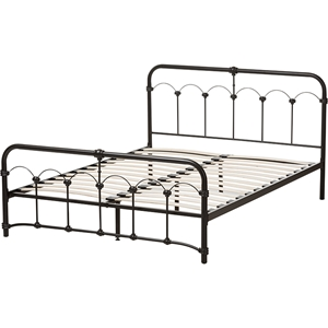 Celeste Metal Bed - Black