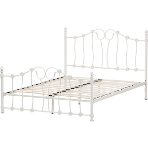 Darcy Metal Platform Bed - White