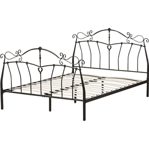 Selena Metal Bed - Black