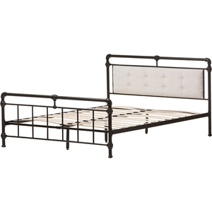 Westcott Metal Bed - Black, Light Beige