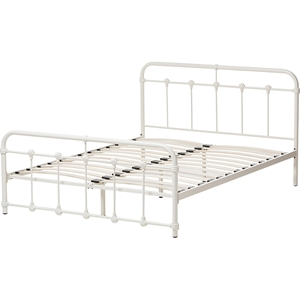 Mandy Metal Bed - White