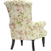 Kimmett Linen Floral Accent Chair - Beige and Pink - WI-TSF-71010-CC-FLOWER