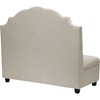 Trumbull Linen Settee Bench - Button Tufted, Beige - WI-TSF-71025-BENCH-BEIGE