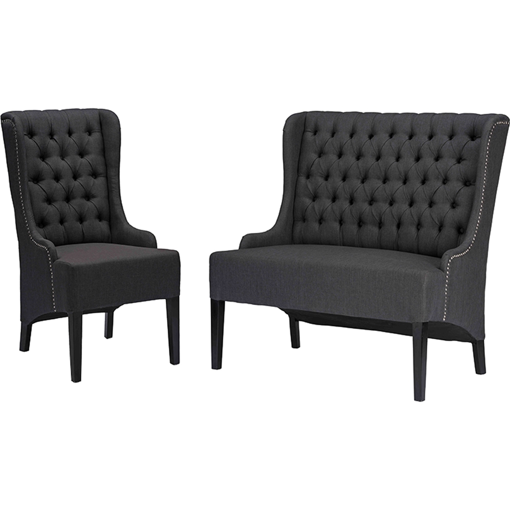 Vincent 2 piece sofa set button tufted gray dcg stores for 2 piece sofa set