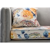 Penelope Paisley Floral Sofa - Gray - WI-TSF-8125-SF-GRAY-VELVET-CALICO