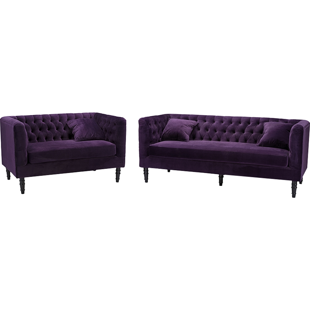 Rylee 2 piece sofa set purple dcg stores for 2 piece furniture set