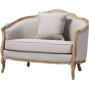 Corneille Linen Upholstered Lounge Chair - Beige