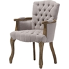 Clemence Linen Upholstered Armchair - Beige - WI-TSF-8155-AC-BEIGE