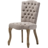 Clemence Linen Upholstered Dining Side Chair - Beige - WI-TSF-8155-DC-BEIGE