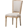 Cadencia Fabric Upholstered Dining Side Chair - Beige, Natural - WI-TSF-9341B-BEIGE-DC