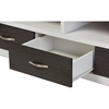 Oxley 3 Drawers Entertainment TV Cabinet - Dark Brown, White - WI-TV838063-EMBOSSE-WHITE