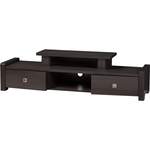 Madeline Entertainment Center TV Stand - 2 Drawers, Dark Brown