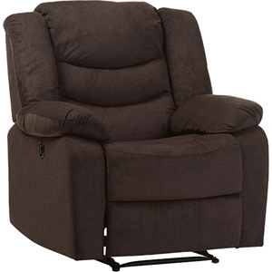 Lynette Fabric Power Recliner Chair - Godiva Brown