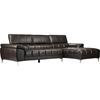 Excellent Sosegado Leather Sectional Sofa Right Facing Chaise Brown Gmtry Best Dining Table And Chair Ideas Images Gmtryco