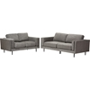 Brittany 2-Piece Fabric Upholstered Sofa Set - Gray