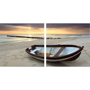 Fishermans Respite Mounted Photography Print Diptych - Multicolor