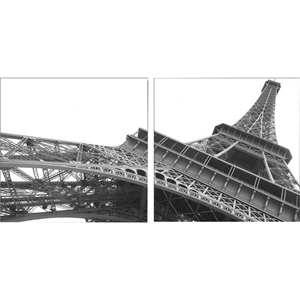 Sculptural Majesty Mounted Photography Print Diptych - Black, White