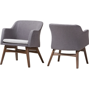 Vera Lounge Chair - Gray (Set of 2)