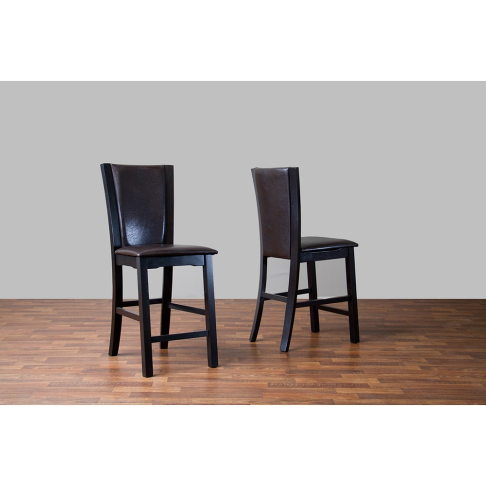 Wing Counter Stool Dark Brown Set Of 2 Dcg Stores