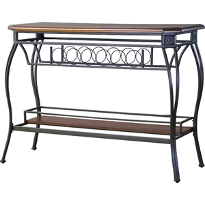 Bordeaux Console Table - Black, Brown