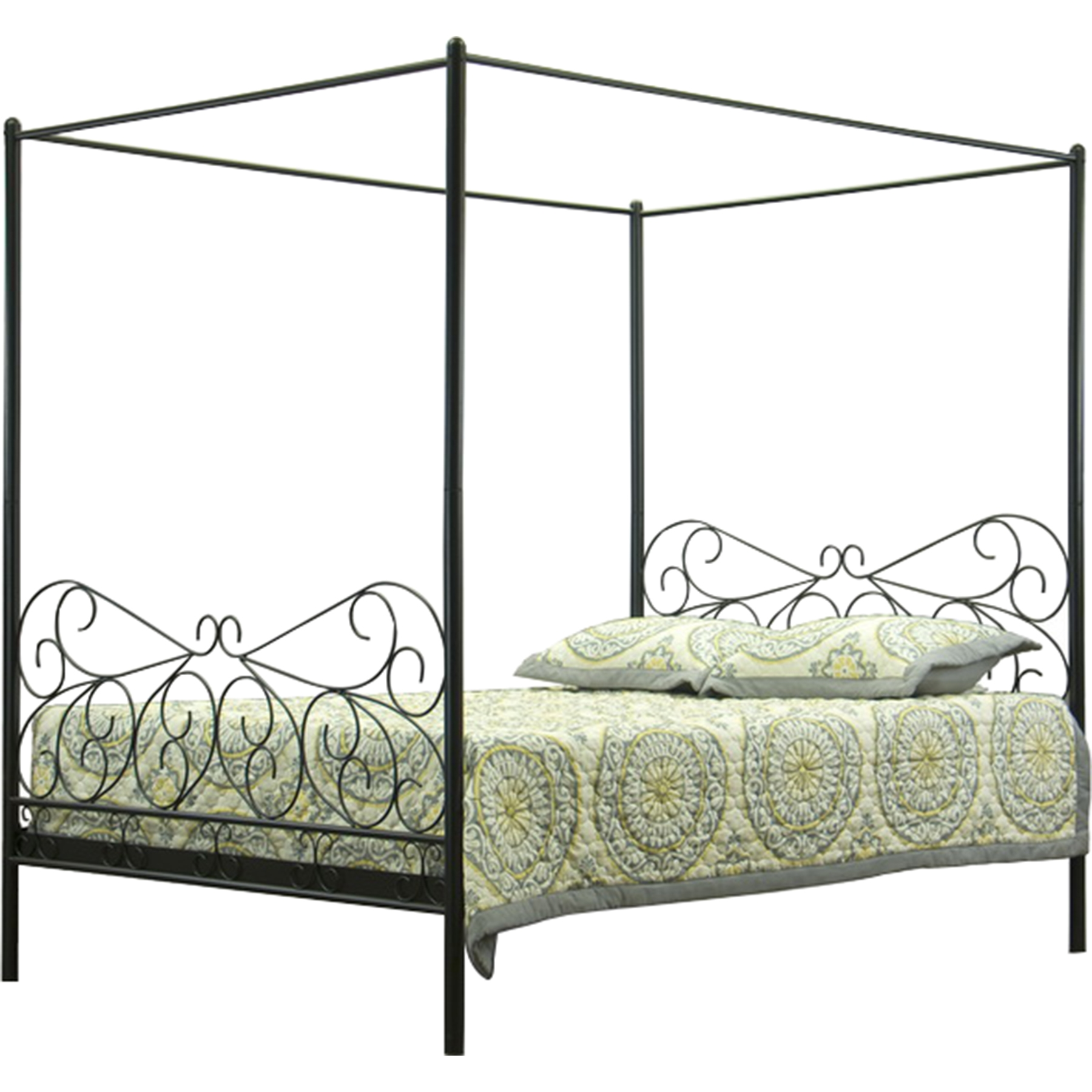 Antiquity Metal Queen Canopy Bed - Black  sc 1 st  DCG Stores & Antiquity Metal Queen Canopy Bed - Black | DCG Stores
