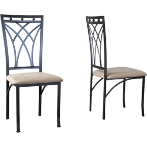 Mirabella Dining Chair - Black, Tan (Set of 2)