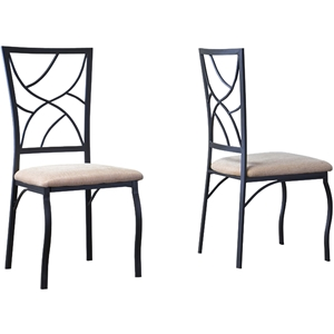 Valletta Dining Chair - Black, Beige (Set of 2)
