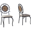 Verona Dining Chair - Black, Cream (Set of 2) - WI-WR-D123-CHAIR