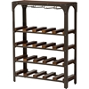 Dunedin Wine Bar Storage Rack - Antique Bronze, Walnut Brown - WI-WR-R048
