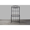 Ibiza Baker's Rack - Black, Brown - WI-WR-R154-KC