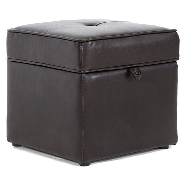 Sydney Cube Storage Ottoman   Dark Brown Upholstery   WI XB 01 DARK ...