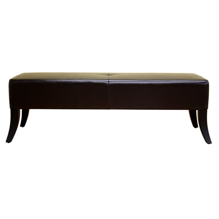 Danilo Dark Brown Leather Bench