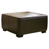 Willow Full Leather Ottoman in Dark Brown - WI-Y-052-J001