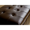 Francesco Tufted Leather Storage Ottoman in Brown - WI-Y-105-J001