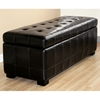Francesco Tufted Leather Storage Ottoman in Black - WI-Y-105-J023