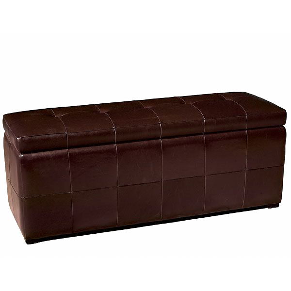 Anthea Full Leather Storage Ottoman Bench - WI-Y-153-J001
