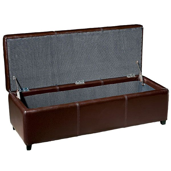 Heritage Full Leather Storage Ottoman - WI-Y-161-J001