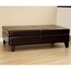Hilary Leather Cocktail Ottoman in Dark Brown - WI-Y-192-J001