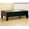 Trina Full Leather Cocktail Ottoman in Black - WI-Y-193-J023