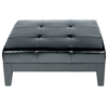Dana Full Leather Cocktail Ottoman in Black - WI-Y-195-J023