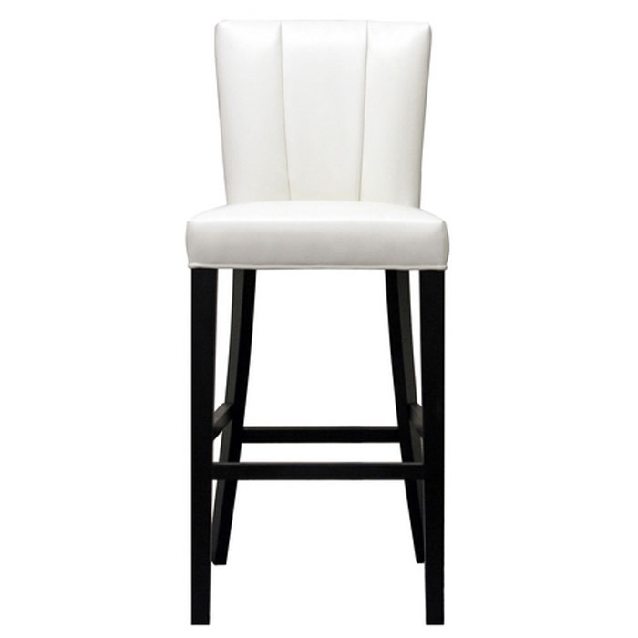 janvier off white leather bar stool dcg stores. Black Bedroom Furniture Sets. Home Design Ideas