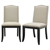 Baudette Beige Fabric Dining Chair - WI-Y-992-C-250