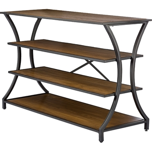 Lancashire 3 Shelves Console Table - Brown