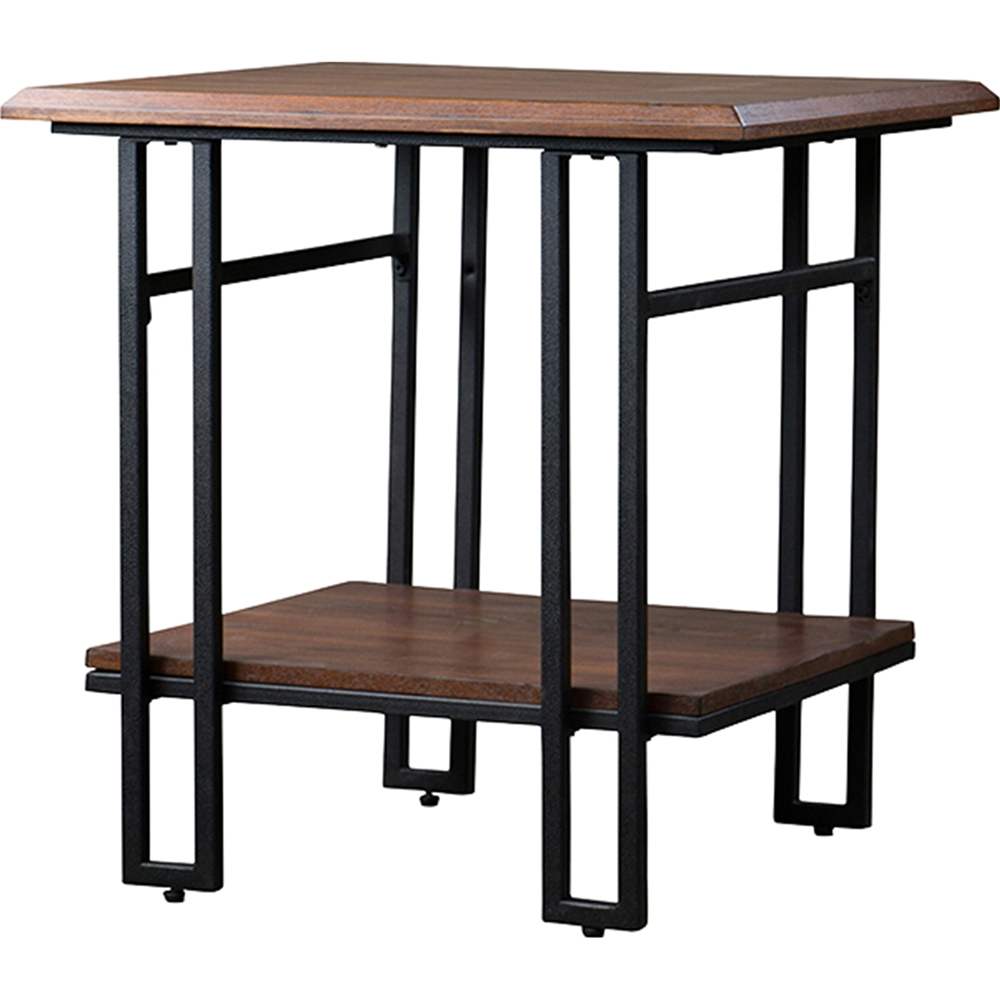 Newcastle 1 shelf end table brown antique bronze dcg for Chinese furniture newcastle