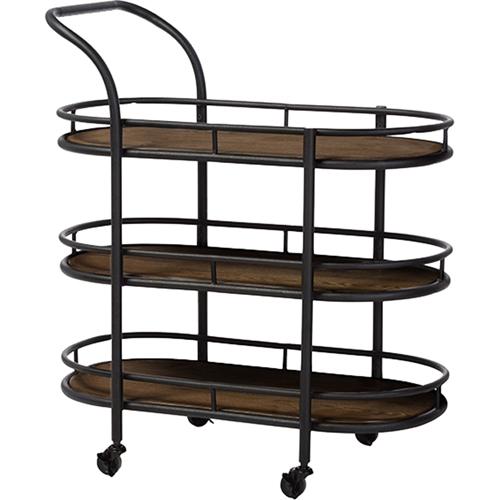 Karlin mobile kitchen bar serving wine cart antique for Mobili bar cart