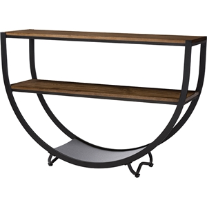 Blakes Console Table - Black, Brown