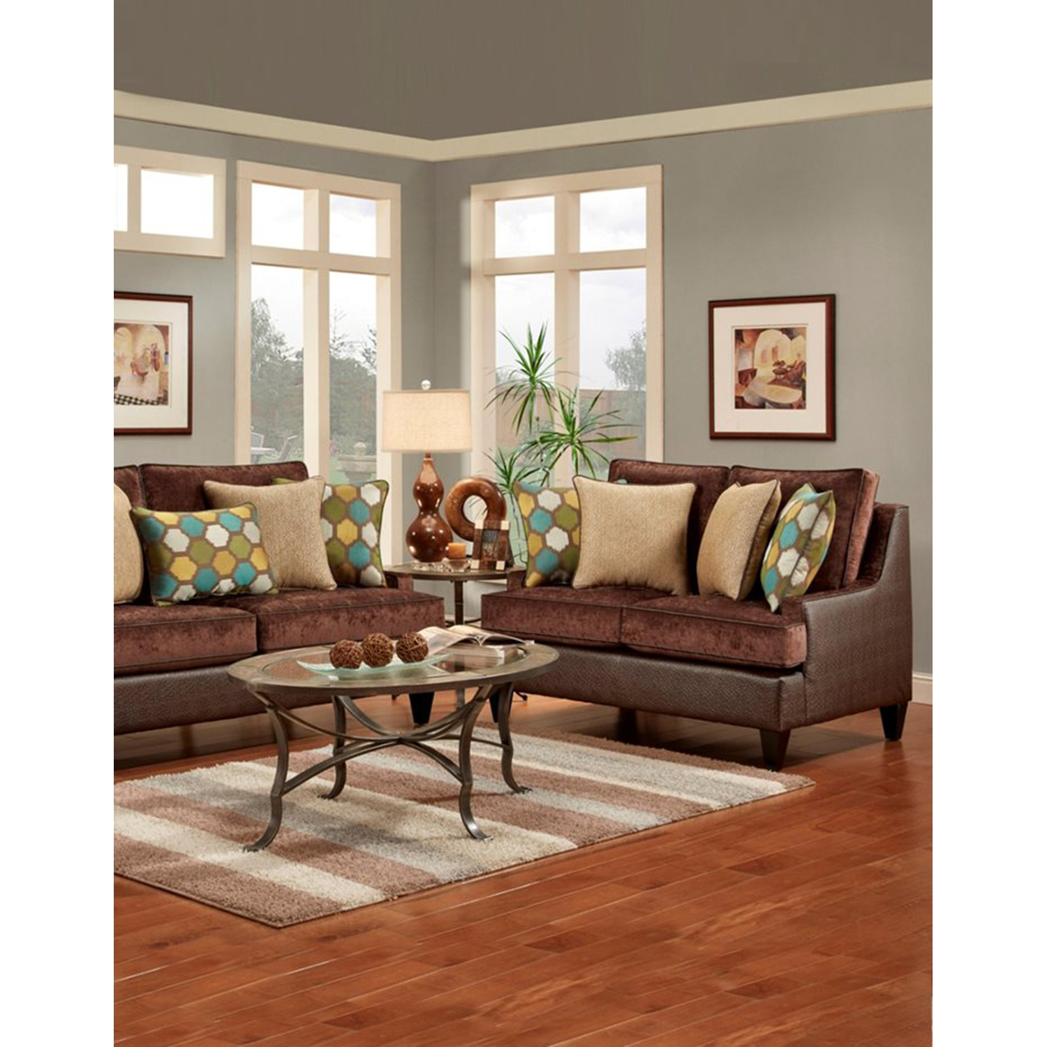 Monte Carlo Chocolate Sofa Set - MYCO-JH-2128-CH-SET